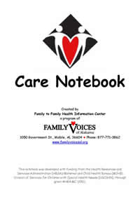 Care Notebook Cover